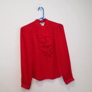 Campus Casuals of California Red Blouse